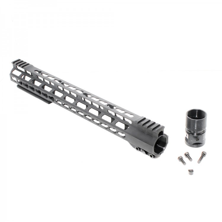 AR15 Super Slim Light Keymod Free Float Handguard w/Steel Barrel Nut