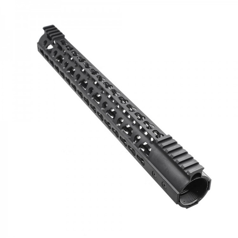 AR10 Super Slim Light Keymod Free Float Handguard w/Steel Barrel Nut