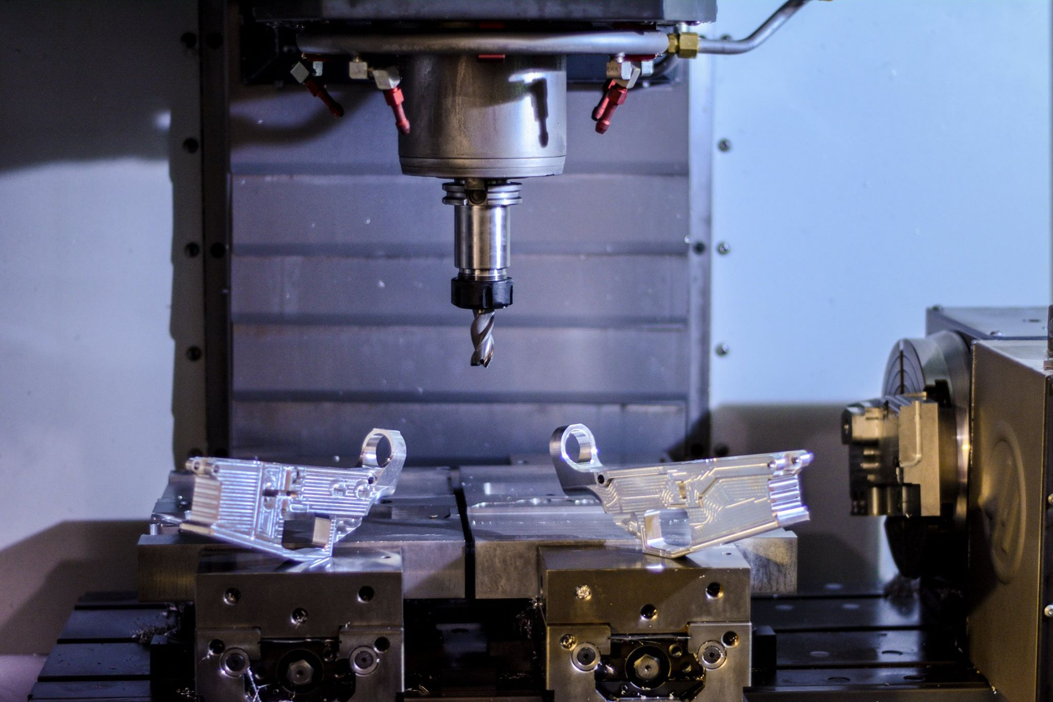 M1 Machining 80% lowers in Haas CNC Machine